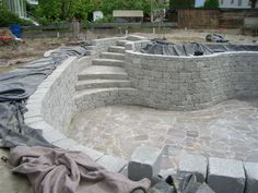 Building a new Natural Pool [ MexicanConnexionForTile.com ] #Backyard #Talavera #Handmade