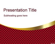 Red and gold simple wavy background #free #PowerPoint #background