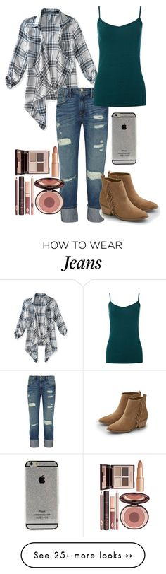 """Boyfriend jeans"" by cbkindt on Polyvore featuring Aéropostale, Frame Denim, American Eagle Outfitters and Charlotte Tilbury"