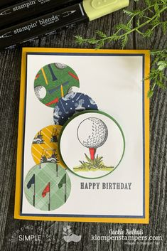Are you ready for scrap paper cards that are for the guys in your life? Today I have simple DIY cards for men that you can make in minutes. Come watch! Masculine Birthday Cards, Masculine Cards, Paper Cards, Folded Cards, Golf Birthday Cards, Stamping Up Cards, Fathers Day Cards, Simple Diy, Kids Cards
