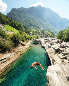 The best swimming pools are made of rock / Lavertezzo Switzerland / Chris Burkard Photography / via UNILAD Adventure / theadventurouslife4us.tumblr.com Say Yes To Adventure