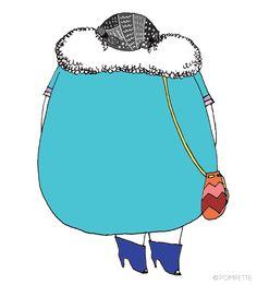♡Olivia, illustration by POMPETTE