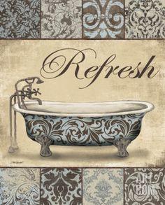 Refresh Bath Print by Todd Williams at eu.art.com