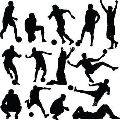 Here you go, soccer silhouettes