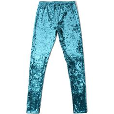 Chicwish Chicwish Velvet Leggings ($25) ❤ liked on Polyvore featuring pants, leggings, bottoms, velvet leggings, stretchy leggings, legging pants, blue velvet pants and stretch pants