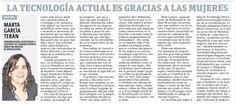 La tecnología actual es gracias a las mujeres, por Marta García Terán http://procomunicando.wordpress.com/2014/10/09/la-tecnologia-actual-es-gracias-a-las-mujeres/