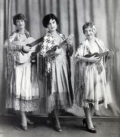 From Martin Ukuleles . Tempting Trio These three girls, Kathleen, Beryl and Lily were very popular during the 1920s. Their novelty was juggling ukuleles and singing at the same time. Kathleen was famous for her unusually small head.