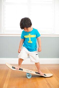 DIY: How to make a Skate Balance Board. Exercising your vestibular system through balance training.