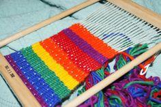Montessori and Waldorf Friendly Winter Weaving for Kids