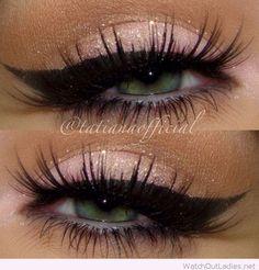 Rose eyeshadow for green eyes
