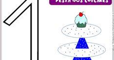 Festa dos cup cakes - Números de 0 a 10
