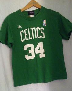 f6a78b190 Adidas Paul Pierce Boston Celtics NBA T Shirt Size Youth Kids Medium Green   adidas