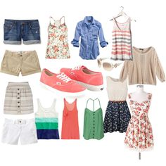 Outfit possibilities to wear with coral vans