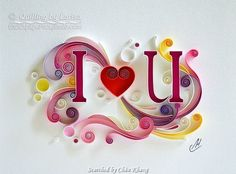 © Larisa - Quilled hearts pictures(Searched by Châu Khang)