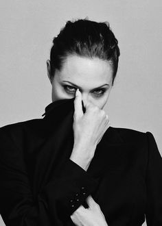 Angelina Jolie / Black and White Photography
