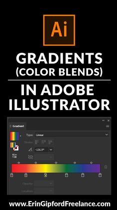Learn how to use the gradient tool to blend colors in Adobe Illustrator. Learn how to use the gradient tool to blend colors in Adobe Illustrator. Web Design, Freelance Graphic Design, Graphic Design Tutorials, Graphic Design Inspiration, Vector Design, Design Trends, Retro Logos, Vintage Logos, Graphics Vintage