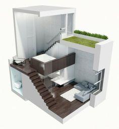 Manhattan micro loft designed by Specht Harpman