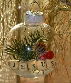 christmas ornament handmade ornament unique gift idea holiday ornament ornament exchange gift tree ornament holiday decor jesus