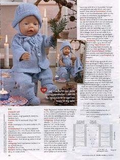 Album Archive - Dukketøj til Baby Born 2 - Ingelise Baby Cardigan Knitting Pattern Free, Kids Knitting Patterns, Knitted Doll Patterns, Knitted Dolls, Baby Patterns, Knitting Dolls Clothes, Knitted Baby Clothes, Doll Clothes Patterns, Baby Alive Dolls