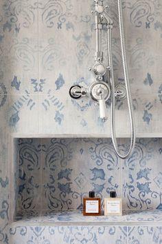 mosaic blue shower