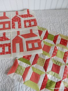 A Quilting Life - a quilt blog: Red & Green Christmas Quilt Blocks
