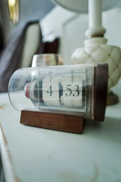 want this clock. (Time in a bottle!)