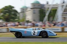 Brian Redman pours it on in the Porsche 917K at the Goodwood Festival of Speed (photo: Tim Scott)