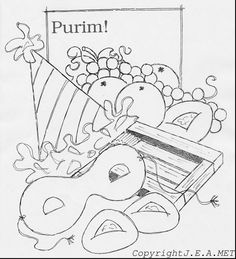 10 Free Purim Coloring Pages | Learning and Craft