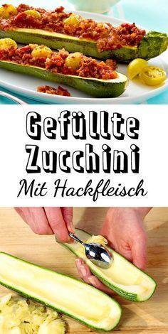 Mit #Hackfleisch sind gefüllte #Zucchini ein Traum! Hier ist das #Rezept