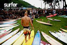 Kelly Slater, Eddie Aikau opening ceremony. Photo: Maassen #SURFERPhotos