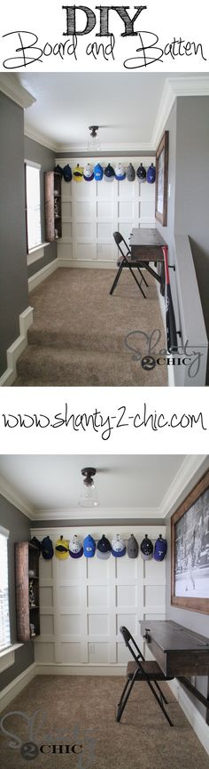 Easy wall treatment tutorial! Love this teen study space!