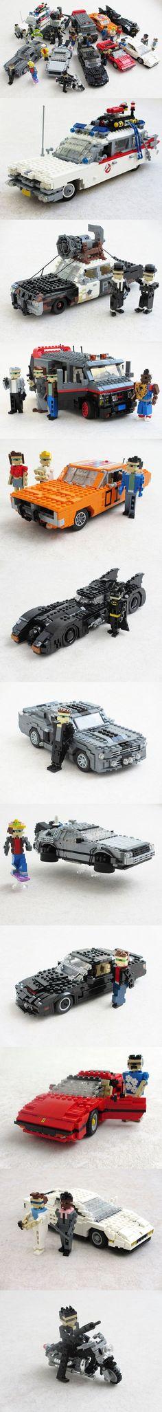 A-mahh-zing LEGOland scale pop culture vehicles and drivers. Excellent!