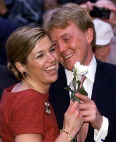 Máxima y Guillermo de Holanda cuando aún eran novios, el 30 de marzo de 2001.
