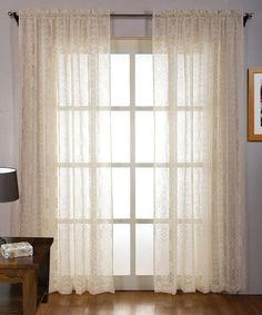 purple abby sheer voile curtain - set of two | purple bedrooms