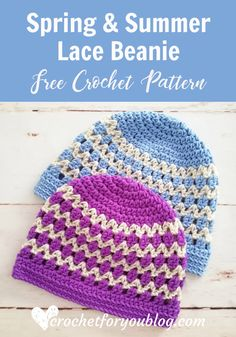 The post Spring & Summer Lace Beanie Free Crochet Pattern 2019 appeared first on Scarves Diy. Crochet Preemie Hats, Crochet Lovey, Crochet Beanie Pattern, Headband Pattern, Easy Crochet, Free Crochet, Crochet Headbands, Crochet Granny, Crochet Dolls