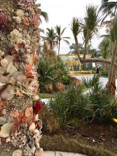 Column at Faena Hotel, Miami Beach, by christas south seashells