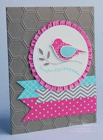 Elaine's Creations: Polka Dot Pieces Bird Card