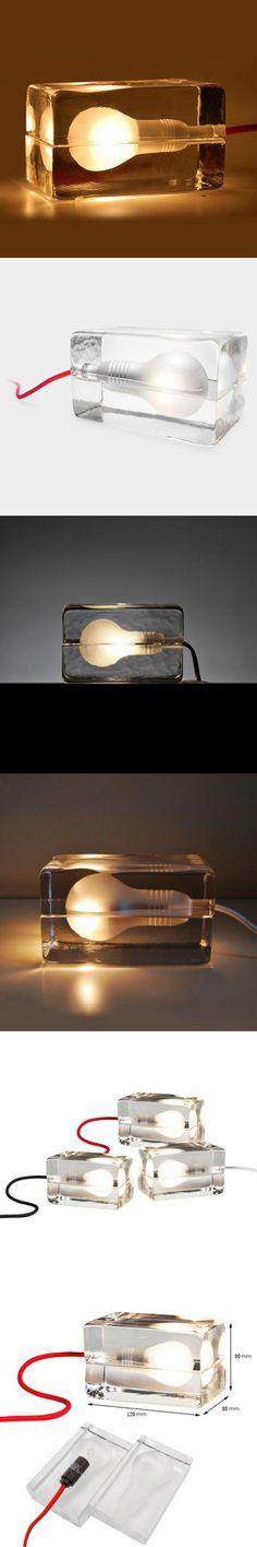 Indoor Lights | Glass Brick Bulb Lamp LED Night Light 220V