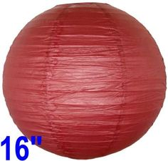 """Burgundy Red Chinese/Japanese Paper Lantern/Lamp 16"""" Diameter - Just Artifacts Brand by Just Artifacts. $1.95. Great for party and home decoration. Check Just Artifacts products for more available colors/sizes."""