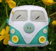 vokswagon camper van felties. kits available from Little Irish House on facebook…