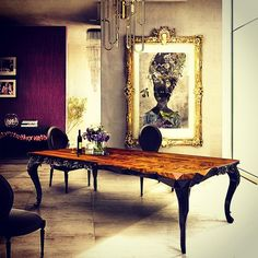 Love Your Space!! Make It Unforgettable!! #design #gold #luxury #paintings #table #diningtable #penthouse #loft #soho #interiordesign #fashion #custommade #life #art @nateberkus @fredrikeklundny @victoriabeckham
