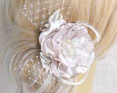 Cabello - pinza de pelo de Clip - flores pelo novia - de pelo de boda - boda pelo pedazo de boda