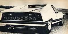 A futuristic sports car which never made it to production and exists as a single prototype still had a successful film career, after transforming itself into a four-wheeled vampire. Supercars, 70s Cars, Super Sport, Car Pictures, Concept Cars, Cars And Motorcycles, Vintage Cars, Classic Cars, Automobile