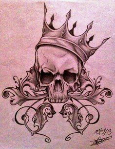 Crâne avec couronne @Maaalaury_