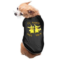 Pikachu I Will Always Chu's You Pokemon Dog Puppy Dog Costume by Pet Crazy – Pokemon Pet Costumes