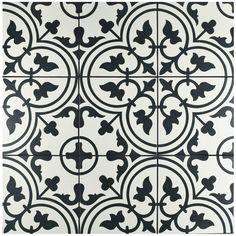 "Found it at Wayfair - Artea 9.75"" x 9.75"" Porcelain Field Tile in White, powder rm?"