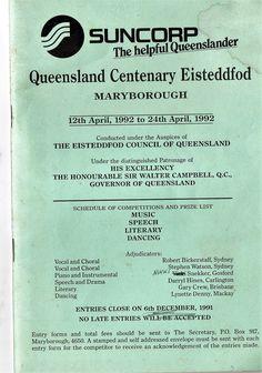 1992 Queensland Centenary Eisteddfod, Maryborough