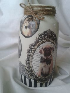 pug and vase