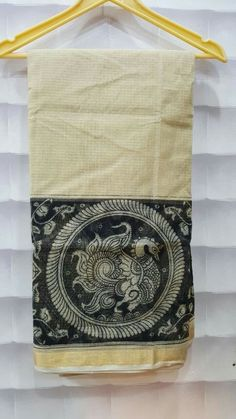 Kota saree with kalamkari pint border Plain blouse Price:1800+$ Order what'sapp 9573737490
