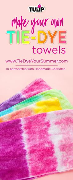 Wondering how to tie dye towels? Or maybe towels are the last thing in your house you haven't tie dyed - yet! Easy Diy Tie Dye, How To Tie Dye, Diy Tie Dye Towels, Tulip Tie Dye, Craft Projects For Adults, Diy Projects, Ty Dye, Tie Dye Party, Tie Dye Crafts